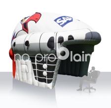 Aufblasbares Zelt Sonderform - Eishockeyhelm Einlaufbogen