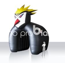 Durchlaufzelt aufblasbar Sonderform - Fishtown-Pinguin