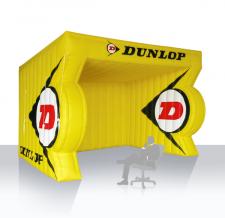 Aufblasbares Eventzelt / Messezelt Sonderform Dunlop
