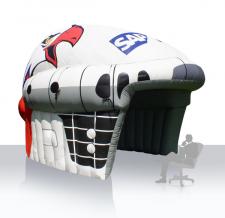 Aufblasbares Zelt Sonderform - Eishockeyhelm