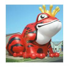 Riesenzelt aufblasbar Sonderform - Werbezelt Froschkönig