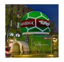 Fussballzelt aufblasbar - Sonderform Innsbruck-Tirol 2008