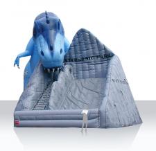 Aufblasbarer Dino & Riesenrutsche - Sonderform Styrassic
