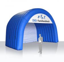 Aufblasbares Tunnelzelt Sonderform Bogen DKB