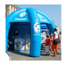 Aufblaszelt - Classic Zelt 5-Bein mit Info Theke - Bayrischer Fußball-Verband