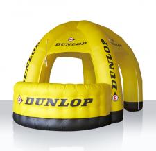 aufblasbares Eventzelt 5-Bein mit Infotheke - Dunlop