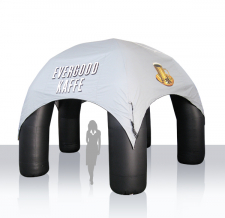 Werbezelt aufblasbar Modern 5-Bein - Evergood Kaffee