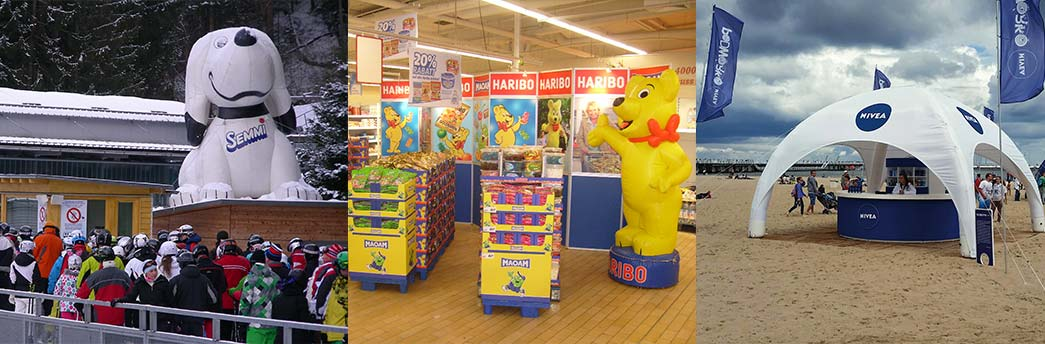 Beispiele für Point of Sales mit Inflatables